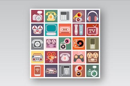 Home Electronics Vector Icon Set