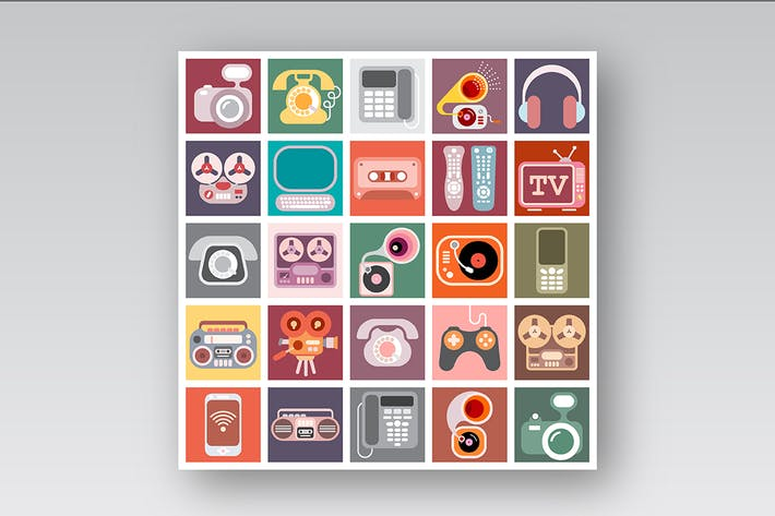 Thumbnail for Home Electronics Vector Icon Set