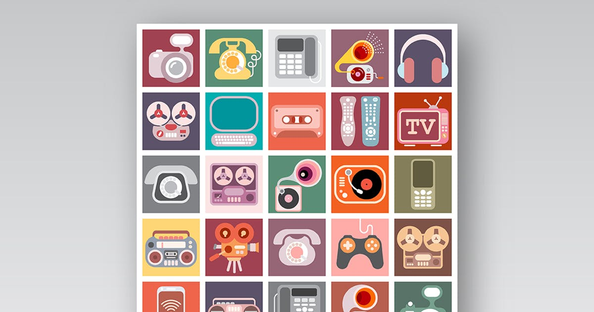 Download Home Electronics Vector Icon Set by danjazzia