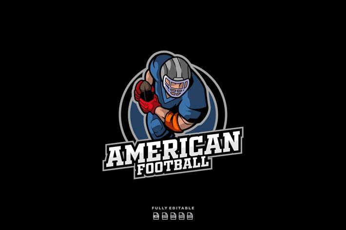 Thumbnail for American Football Sports Logo