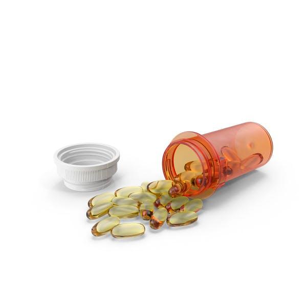 Пролитая бутылка таблеток