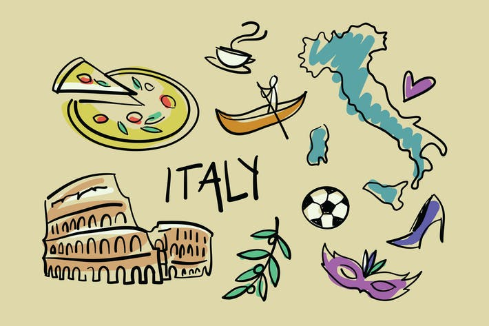 Thumbnail for Visit Italy Doodles