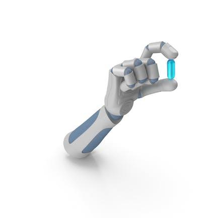 RoboHand Holding a Pill
