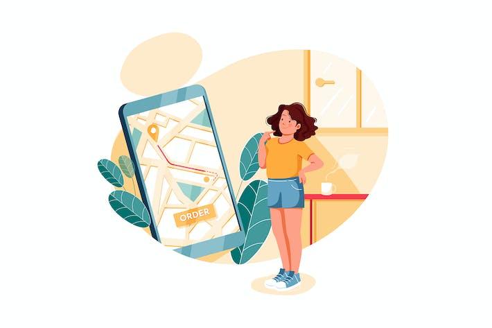 Thumbnail for Отслеживание заказов - концепция иллюстрации электронной коммерции