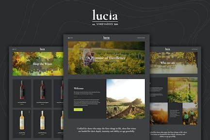 Lucia - Wine WordPress Theme