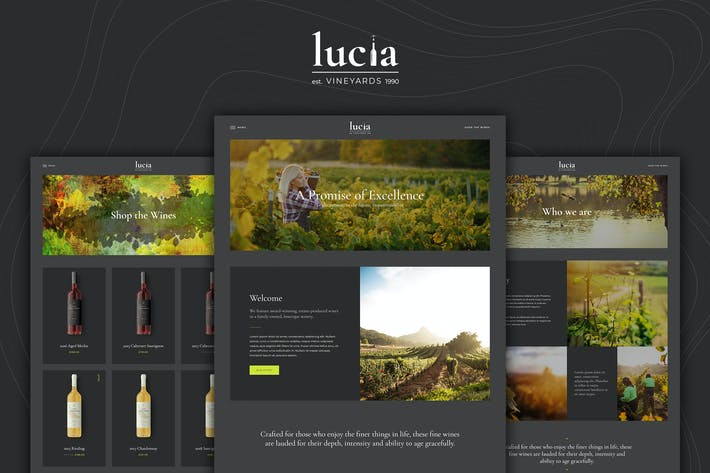 Cover Image For Lucia - Wine WordPress Theme