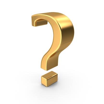 Gold Question Mark Symbol