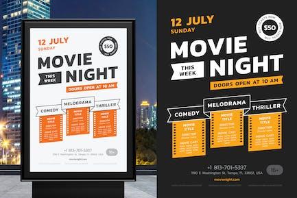 Movie Night Poster Template #2
