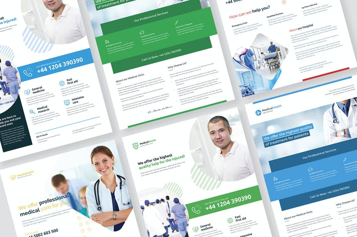 Thumbnail for Flyer – Medical and Health Bundle 3 in 1