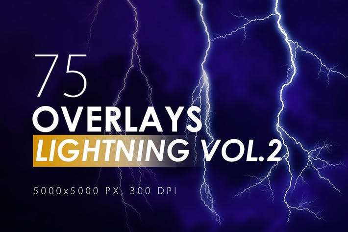 Thumbnail for 75 Lightning Overlays Vol. 2