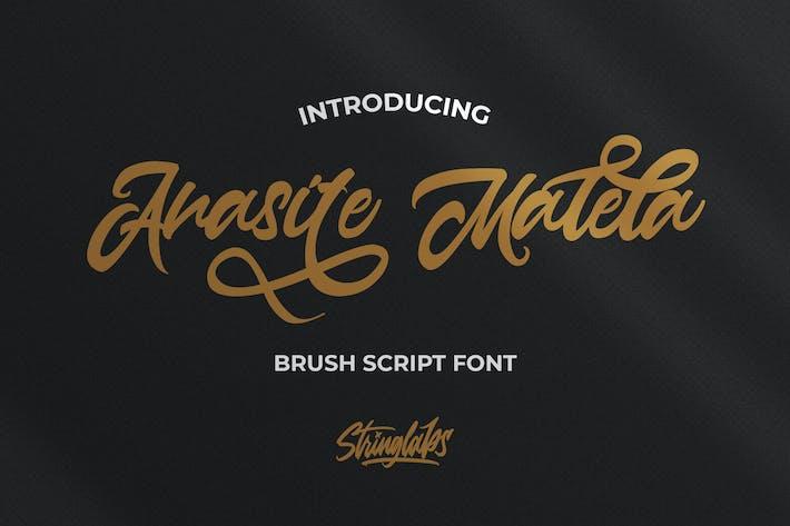 Thumbnail for Anasite Malela - Bold Script Font