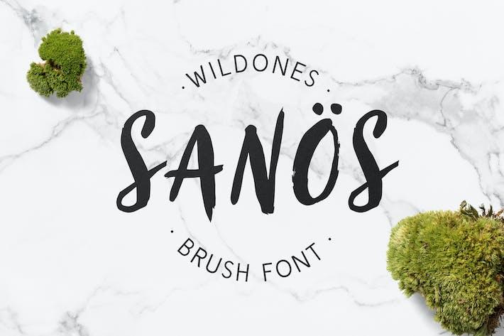 Thumbnail for Sanös Brush Script Font