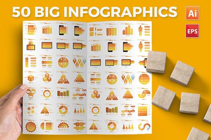 Cover Image For 50 Желтый дизайн Инфографика