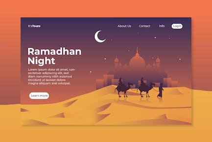 Ramadhan Night Landing Page