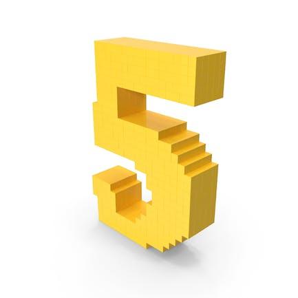 Pixel-Kunst-Nummer 5