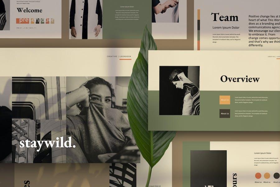 Staywild Minimal Creative Google Slide