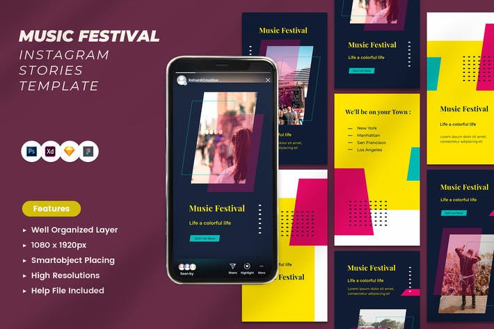 Festival de musique Instagram Histoires