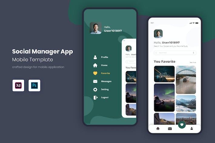 Thumbnail for Мобильный комплект пользовательского интерфейса для социальных менеджеров