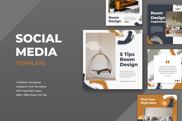 Interior Design Instagram Post Template