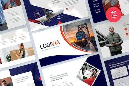 Шаблон PowerPoint для логистики и транспорта