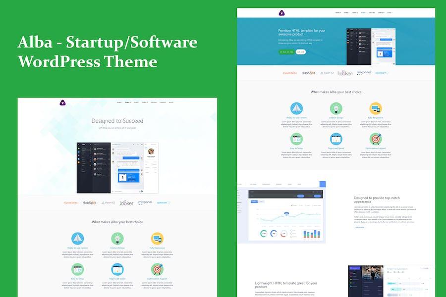 Alba - Startup/Software WordPress Theme