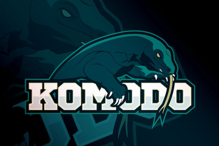 Thumbnail for Komodo -Mascotte et logo eSport Modèle RB