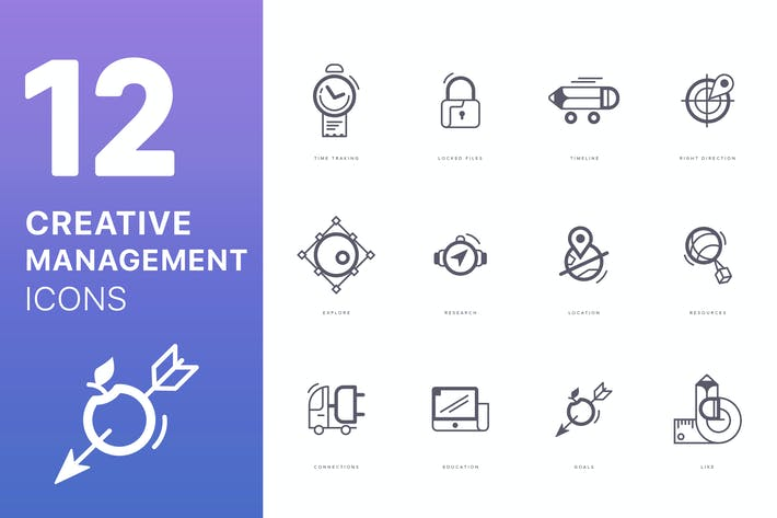 Thumbnail for Creative Management Icons