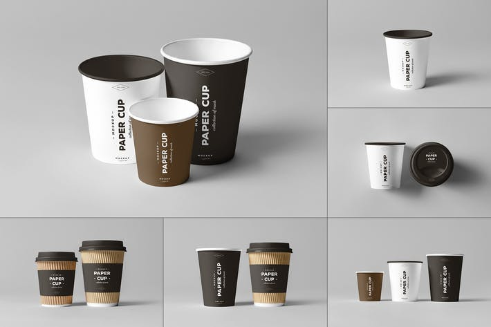 Thumbnail for Paper Cups Mock-up