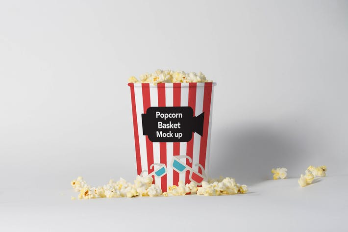 Thumbnail for Popcorn Basket Mock Up Vol. 02
