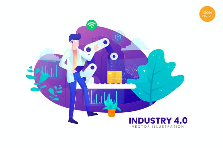 Thumbnail for Industry 4.0 Vector Illustration Concept