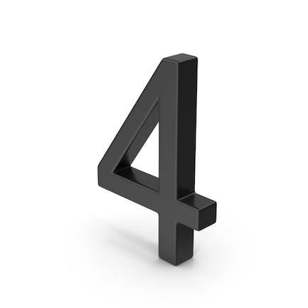 Number 4 Black