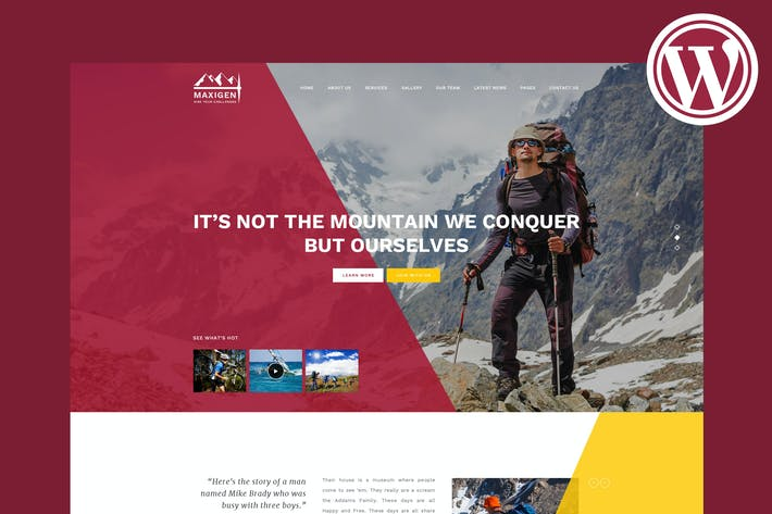 Thumbnail for Maxigen - Hiking & Outdoor WordPress Theme