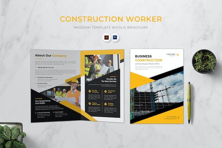 Construction Worker Bifold Brochure