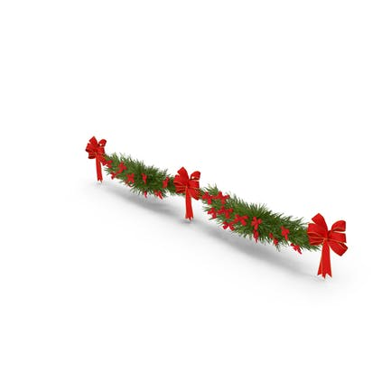 Christmas Garland with Bows