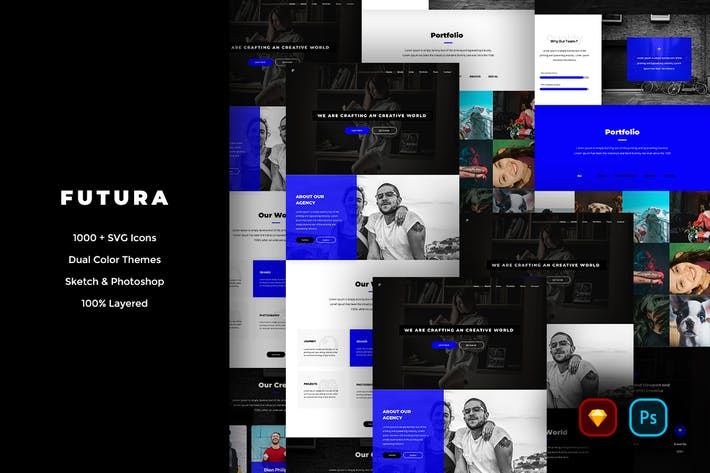 Thumbnail for Futura Creative Website UI Kit