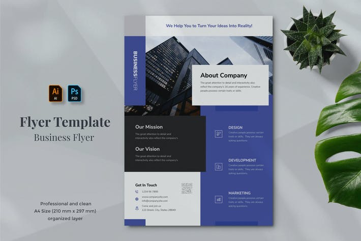 Thumbnail for Business Flyer Template 23