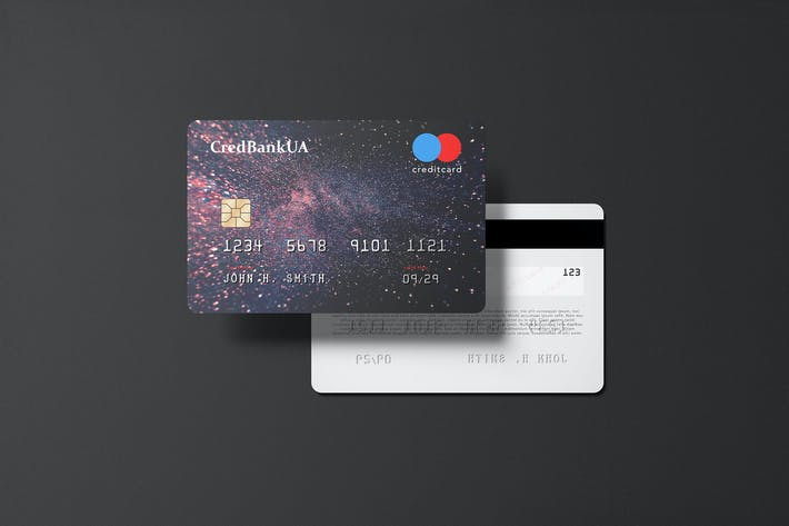 Thumbnail for 85x55 Landscape Credit Card Mockup