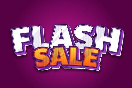 Flash Sale 3d Text Effect