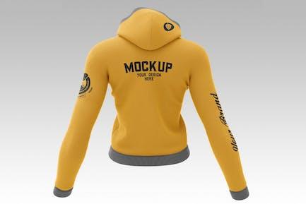 Weiblicher Sweatshirt Hoodie Mockup