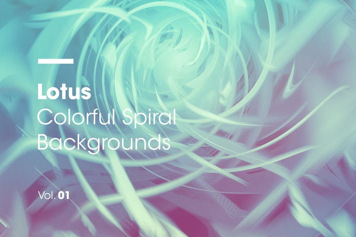 Thumbnail for Lotus | Colorful Spiral Backgrounds | Vol. 01