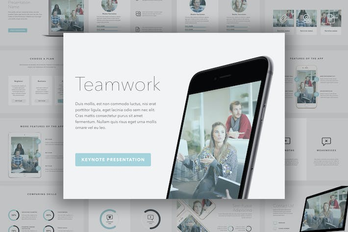 Thumbnail for Teamwork Keynote Template