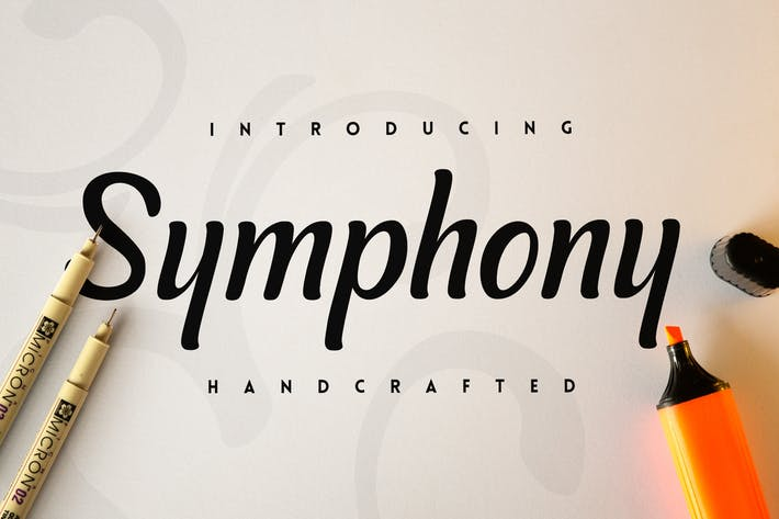 Thumbnail for Symphony Script Font