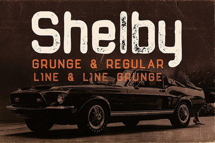 Thumbnail for Shelby Typeface