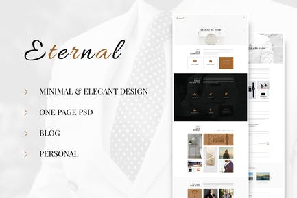 Eternal - Personal Elegant Blog PSD