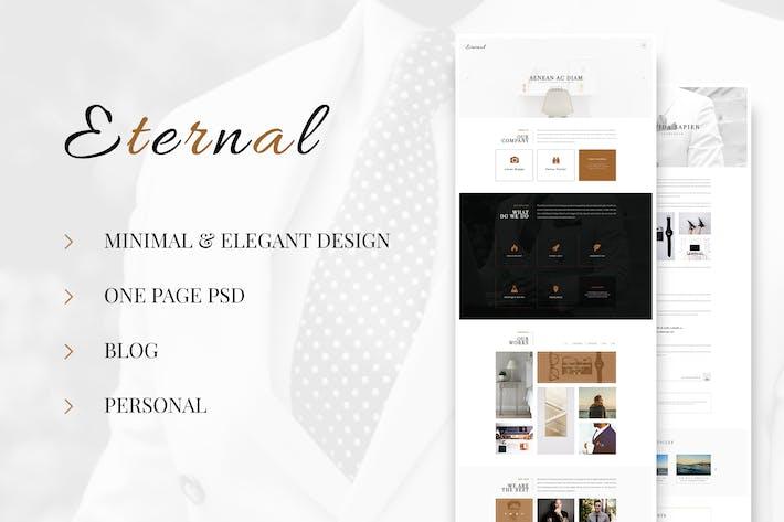 Thumbnail for Eternal - Personal Elegant Blog PSD
