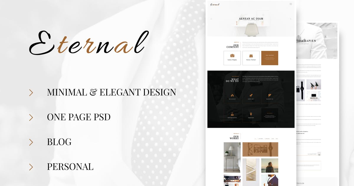 Eternal - Personal Elegant Blog PSD by Unknow