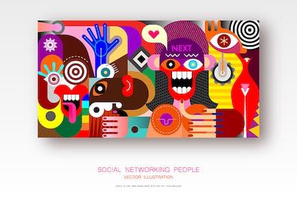 Социальные сети Люди вектор иллюстрация