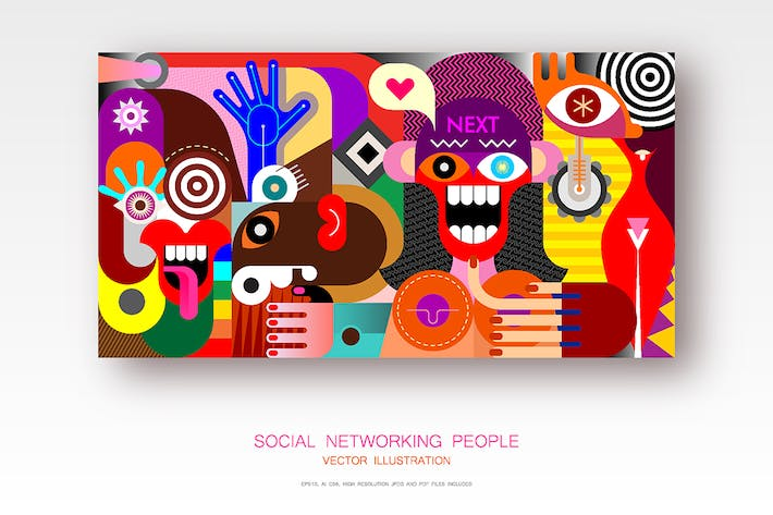 Thumbnail for Social Networking People vector illustration