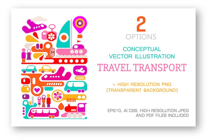 Thumbnail for Travel Transport vector illustration