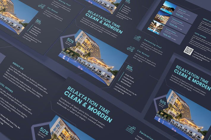 Thumbnail for Hotel Horizontal A5 Business Flyer